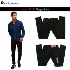 511 Skinny Comfort Negro Carbon Liso (511000L)